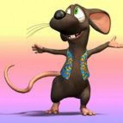 La donna dal topo in testa