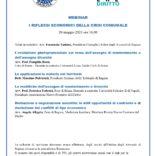 """Webinar """"I riflessi economici della crisi coniugale"""" 20 maggio 2021 ore 16"""